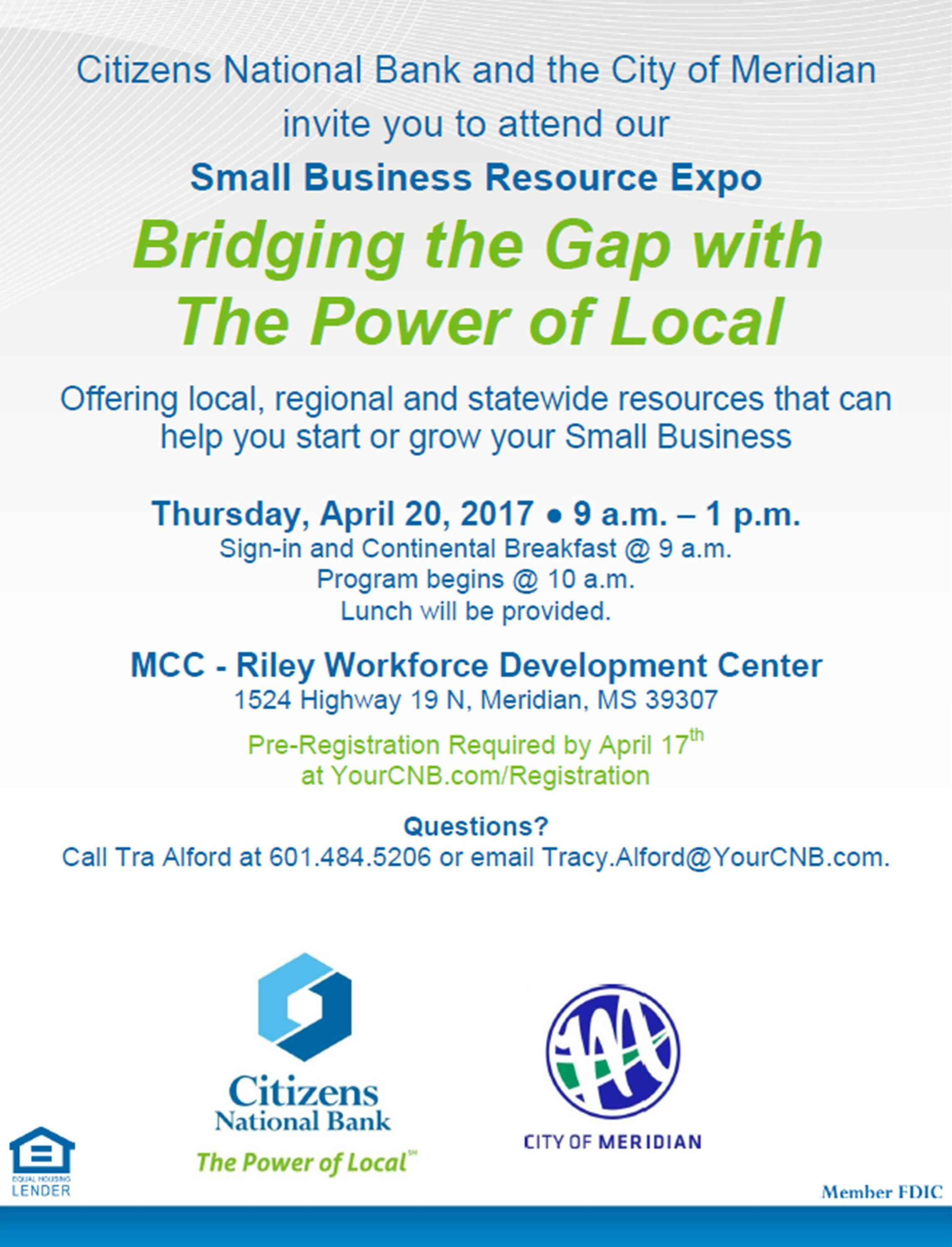 Small Business Resource Expo - Citizens National Bank